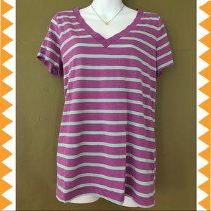 Mossimo Supply Co. Stripe V-neck Tee Shirt